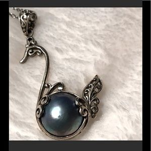 Bali Blue Pearl Necklace